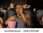 a group of people watching a... | Shutterstock . vector #266150108