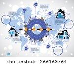 timeline infographic  vector... | Shutterstock .eps vector #266163764