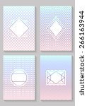 graphic design templates. ... | Shutterstock .eps vector #266163944