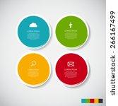 infographic design elements for ... | Shutterstock .eps vector #266167499