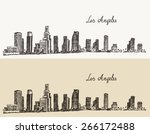 los angeles skyline  california ... | Shutterstock .eps vector #266172488