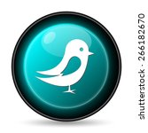 bird icon. internet button on... | Shutterstock . vector #266182670