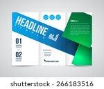 modern vector three fold... | Shutterstock .eps vector #266183516