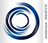 dark blue color light abstract... | Shutterstock .eps vector #266187170