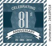 81st anniversary poster   stamp ... | Shutterstock .eps vector #266189318