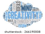 word cloud   creativity ... | Shutterstock .eps vector #266190008