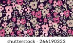 vector seamless flower pattern... | Shutterstock .eps vector #266190323