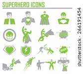 hero superhero icons .... | Shutterstock .eps vector #266191454
