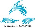 water splashing wave | Shutterstock .eps vector #266205548