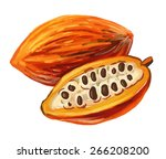 vector paint hand drawn picture ... | Shutterstock .eps vector #266208200