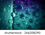 water drops on abstract... | Shutterstock . vector #266208290