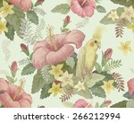 seamless floral pattern from... | Shutterstock . vector #266212994