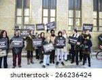 new york city   april 1 2015 ... | Shutterstock . vector #266236424