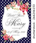 bridal shower invitation card | Shutterstock .eps vector #266246153
