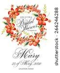 bridal shower invitation | Shutterstock .eps vector #266246288
