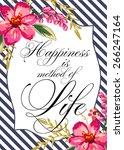 bridal shower invitation card   Shutterstock .eps vector #266247164