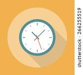 clock icon flat | Shutterstock .eps vector #266255519