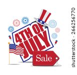 fourth of july sale icon... | Shutterstock . vector #266256770