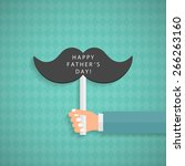 greeting card template for... | Shutterstock .eps vector #266263160