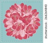 beautiful flowers. crocus... | Shutterstock .eps vector #266264840