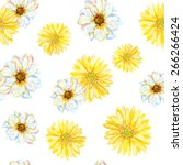 White And Yellow Daisies On Th...