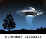 alien spaceship   ufo | Shutterstock . vector #266266616
