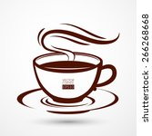 vector picture with a cup of... | Shutterstock .eps vector #266268668