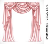 pink curtain draped with... | Shutterstock .eps vector #266271278