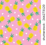 seamless pineapple pattern.... | Shutterstock .eps vector #266273120