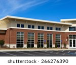 new commercial building with... | Shutterstock . vector #266276390