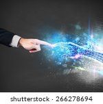 connection between human and... | Shutterstock . vector #266278694