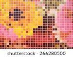multicolor square mosaic... | Shutterstock . vector #266280500