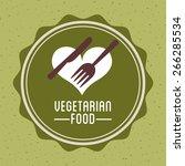 vegetarian food design  vector... | Shutterstock .eps vector #266285534