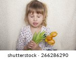 close up photo of cute girl... | Shutterstock . vector #266286290