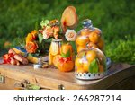 a beautiful table decoration | Shutterstock . vector #266287214