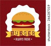 fast food design vector...   Shutterstock .eps vector #266287319