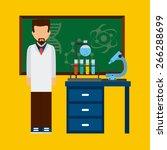 scientific laboratory design ... | Shutterstock .eps vector #266288699