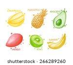 fruits and berries set   star... | Shutterstock . vector #266289260