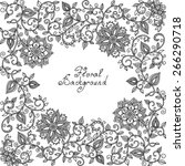 Vector Black And White Floral...