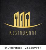 Logo Restaurant Gold and Black | Shutterstock vector #266309954