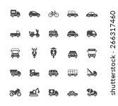 transport icons on white... | Shutterstock .eps vector #266317460