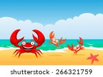 Red Crabs. Crabs On A Beach ...