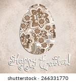 easter egg decorated with... | Shutterstock .eps vector #266331770