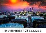 landscape of oil refinery...   Shutterstock . vector #266333288
