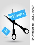 scissor   impossible  | Shutterstock .eps vector #266340434