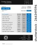 invoice template   clean modern ... | Shutterstock .eps vector #266349596
