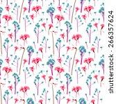 romantic pattern scanned from... | Shutterstock . vector #266357624