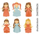 a cute collection of beautiful...   Shutterstock .eps vector #266358626