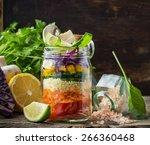Bright Rainbow Salad  Of...