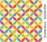 vector seamless retro geometric ... | Shutterstock .eps vector #266361206